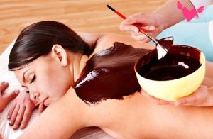 Chocolaterapia con peeling y masaje relajante