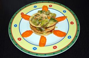 Menú vegetariano en Bilbao