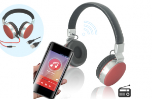 Auriculares Wireless con radio y SD Duet